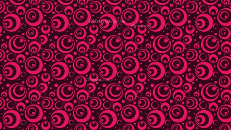 Pink Geometric Circle Pattern Background