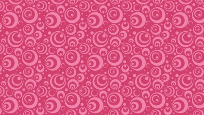 Pink Seamless Geometric Circle Pattern