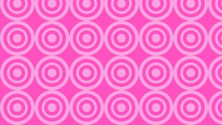 Rose Pink Concentric Circles Pattern Background