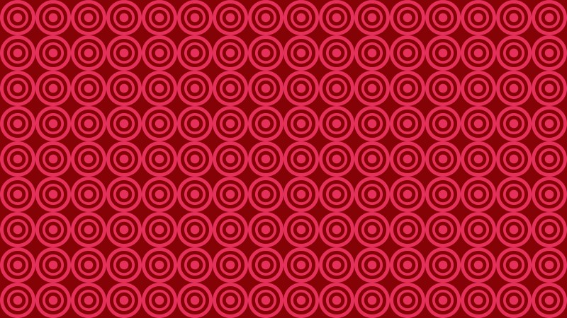 Folly Pink Seamless Concentric Circles Pattern