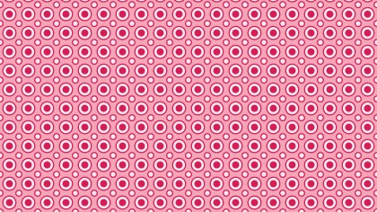 Pink Geometric Circle Pattern Background Vector Graphic