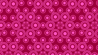 Pink Seamless Geometric Circle Background Pattern Illustration