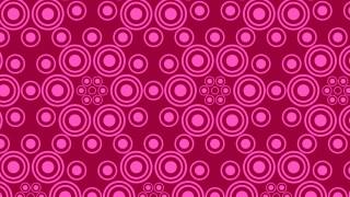 Pink Seamless Geometric Circle Background Pattern Illustration
