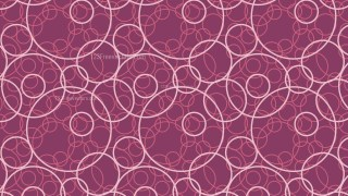 Pink Overlapping Circles Pattern