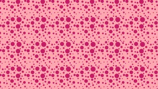 Pink Seamless Random Circle Dots Background Pattern