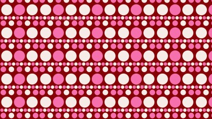 Pink Seamless Geometric Circle Pattern Background