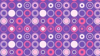 Purple Seamless Geometric Circle Pattern Background Vector Graphic