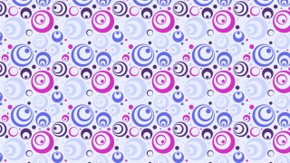Purple Seamless Geometric Circle Pattern Vector Illustration