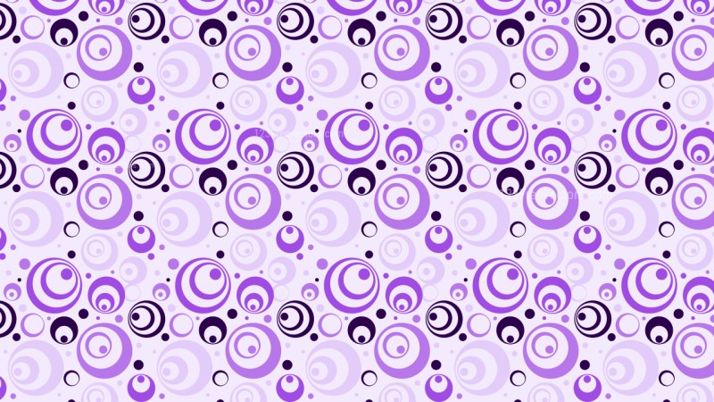 Purple Seamless Geometric Circle Pattern Background Vector