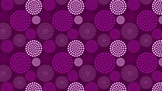 Purple Dotted Concentric Circles Pattern Design