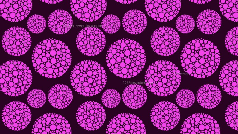 Purple Seamless Dotted Circles Background Pattern Graphic