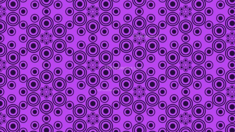 Purple Seamless Circle Pattern Background Vector Art