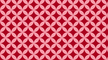 Red Seamless Overlapping Circles Pattern Vector Illustration