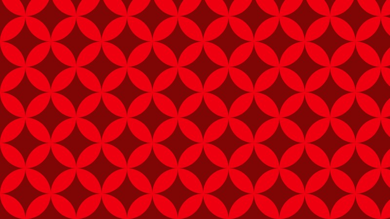 Red Seamless Overlapping Circles Pattern Background Vector