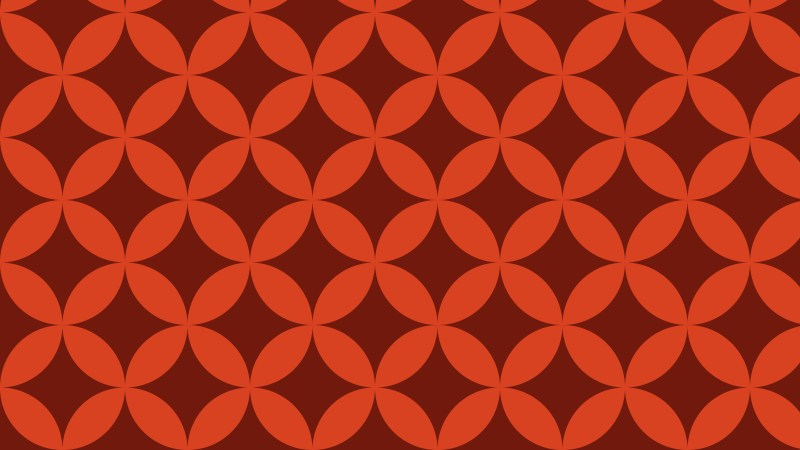 Red Seamless Overlapping Circles Background Pattern Vector Art