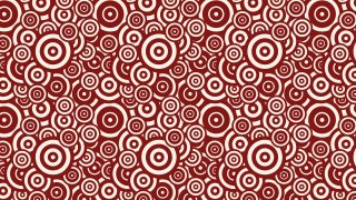 Red Overlapping Concentric Circles Pattern Vector Illustration
