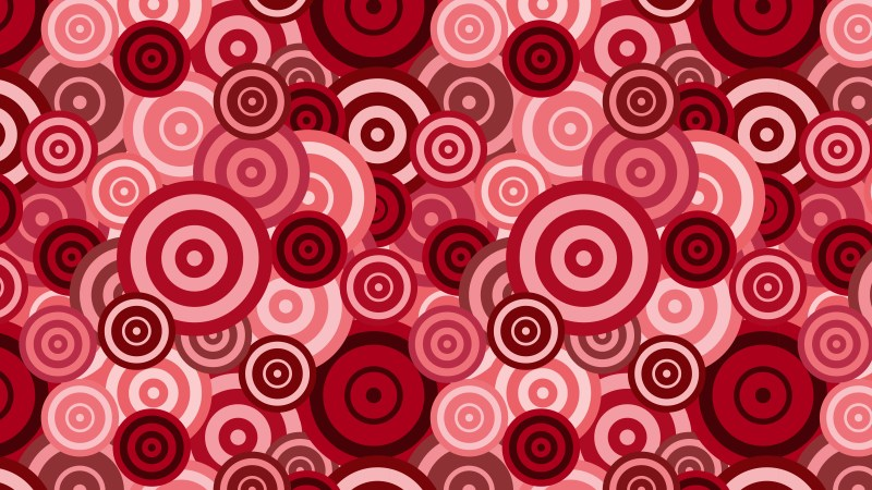 Red Overlapping Concentric Circles Pattern Background Vector