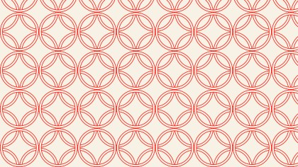Light Red Overlapping Circles Pattern