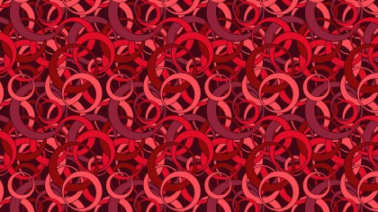 Dark Red Seamless Overlapping Circles Pattern