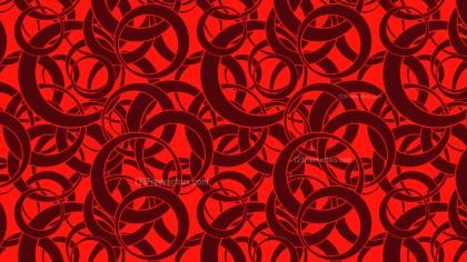 Dark Red Overlapping Circles Pattern Illustrator