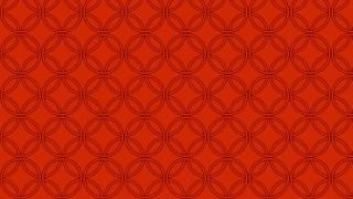 Red Overlapping Circles Pattern Background Vector Illustration