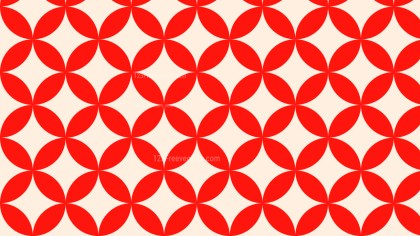 Red Seamless Overlapping Circles Pattern Vector Art