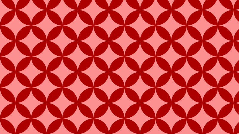 Red Seamless Overlapping Circles Pattern Background Graphic