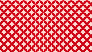 Red Overlapping Circles Pattern