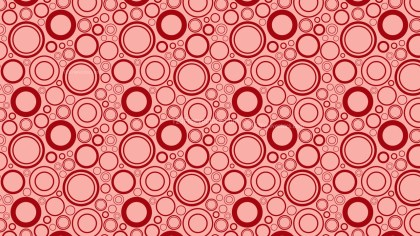 Red Geometric Circle Pattern Image