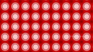 Red Seamless Circle Pattern Illustrator