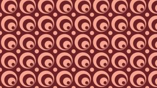 Dark Red Seamless Geometric Circle Pattern Vector Art