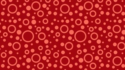 Red Seamless Geometric Circle Pattern Background Graphic