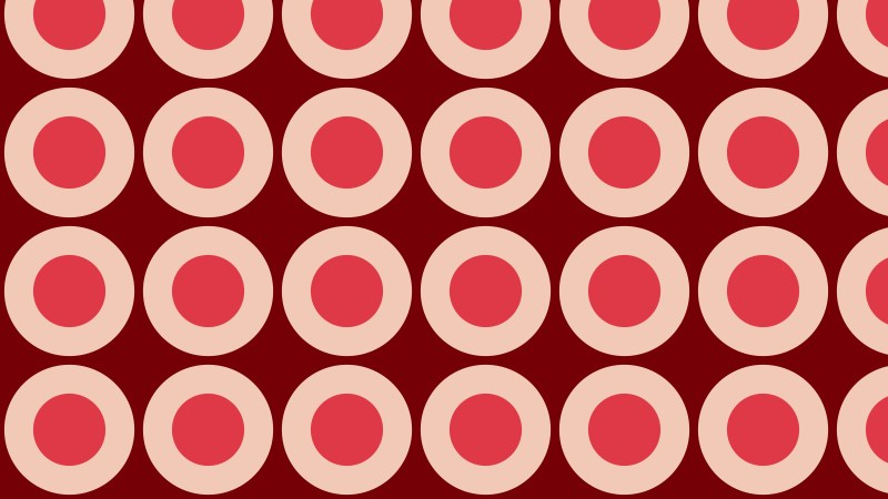 Red Circle Background Pattern