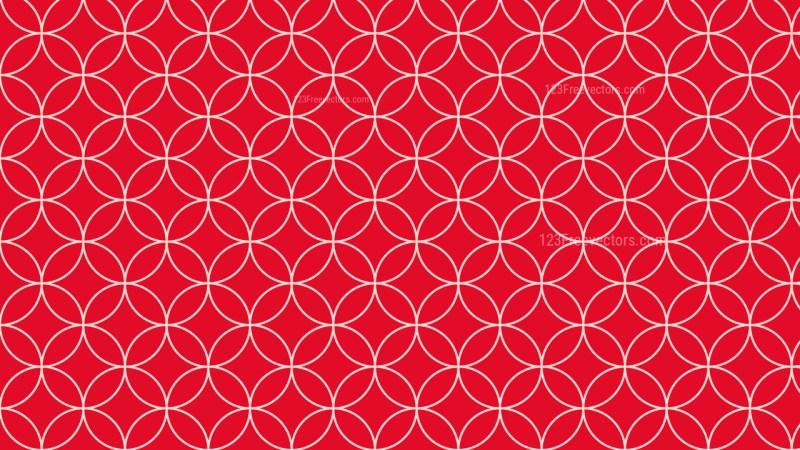 Red Seamless Overlapping Circles Pattern Illustration