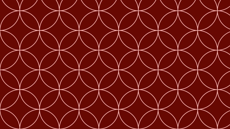 Dark Red Seamless Overlapping Circles Pattern Background Design
