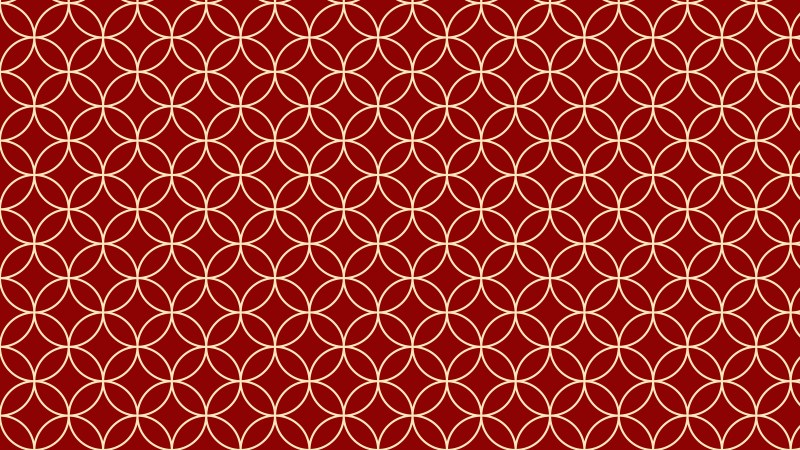 Dark Red Seamless Overlapping Circles Background Pattern Image