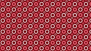 Red Geometric Circle Pattern Background