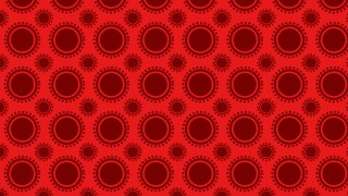 Red Seamless Circle Background Pattern