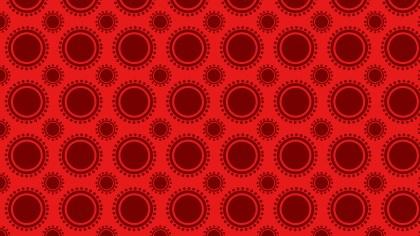 Red Seamless Circle Background Pattern