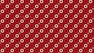 Dark Red Seamless Geometric Circle Pattern Background