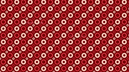 Dark Red Seamless Geometric Circle Pattern Background