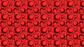 Red Seamless Circle Pattern Graphic