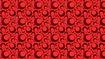 Red Seamless Circle Pattern Graphic