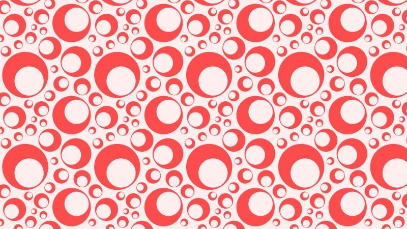 Red Seamless Circle Pattern Background Illustration