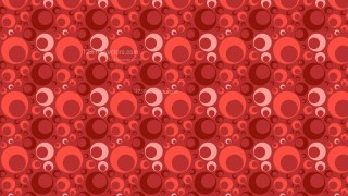 Red Seamless Circle Background Pattern Design