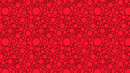 Red Seamless Geometric Circle Pattern Background Vector Graphic