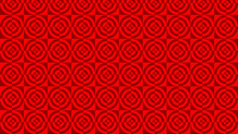 Red Geometric Quarter Circles Pattern Background