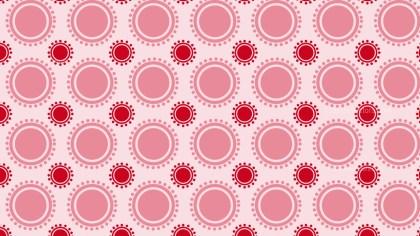Light Red Seamless Geometric Circle Pattern