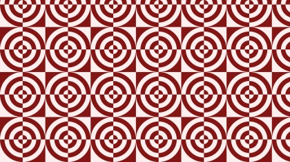 Red Seamless Geometric Quarter Circles Pattern