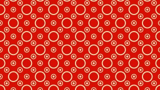 Red Circle Pattern Background Vector Art